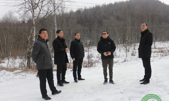 陕西省科学院考察团一行到山门林场考察调研林下经济发展等工作